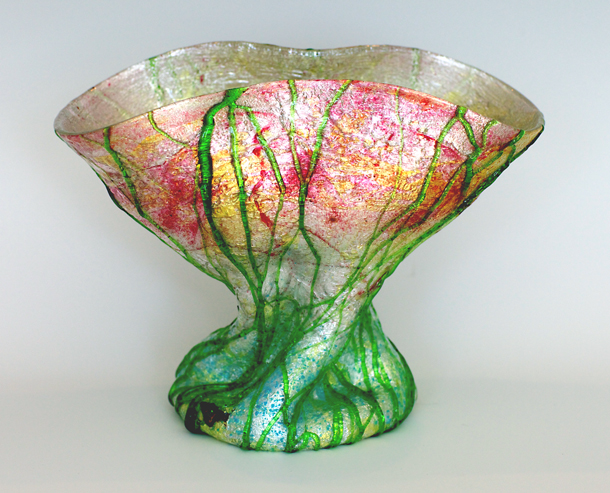 Stevens & Williams Silveria Art Glass Vase