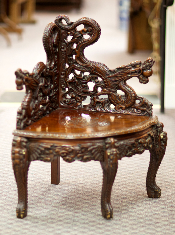 Chinese Carved Corner Chair