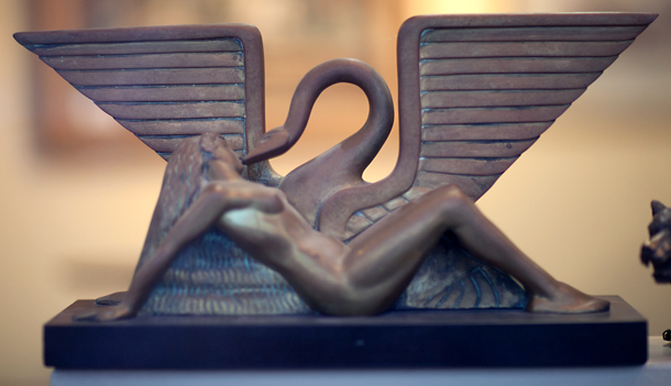 Art Deco Swan Bronze