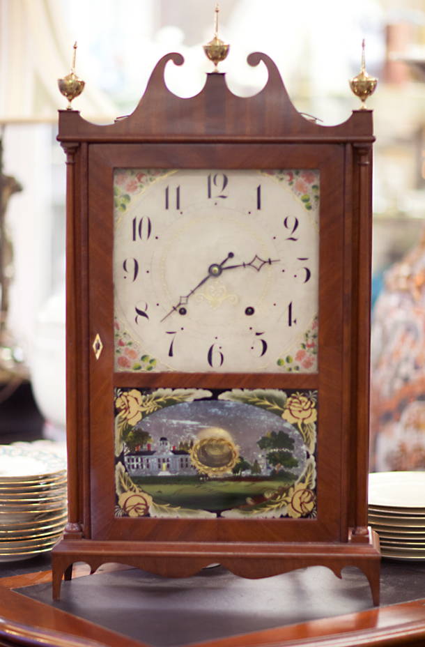 Seth Tomas Pillar & Scroll Mantel Clock